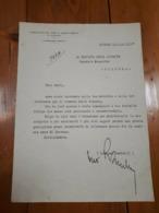 1935 - FASCISMO LETTERA FEDERAZIONE FASCI COMBATTIMENTO RAVENNA - Documenti Storici