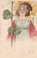 Jolie Dame . Art Nouveau.  Scan - Illustratori & Fotografie
