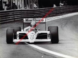Arton Senna 1988 McLaren-Honda - Original Press Photo - Stamp By Photographer Corinne Feron - Format 24x17,5 - Automobile - F1