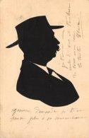 Silhouettes - N°60471 - Homme Moustachu Portant Un Chapeau - Silhouette - Scissor-type