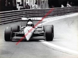 René Arnoux 1988 Ligier-Judd Loto - Original Press Photo - Stamp By Photographer Corinne Feron - Format 24x17,5 - Automobile - F1