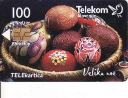 Slovenia, 100 Units, Chip, Ostern, Easter, Velika Noc,tirage 4000 - Slovenië