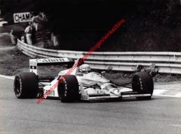 Riccardo Patrese 1988 Canon Williams Judd - Original Press Photo - Stamp By Photographer Corinne Feron - Format 24x17,5 - Automobile - F1