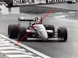 Philippe Alliot 1988 Larrousse Lola-Ford - Original Press Photo - Stamp By Photographer Corinne Feron - Format 24x17,5 - Automobile - F1
