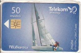 Slovenia, 50 Units, Chip, Ship, Sailing Boat - Slovenië