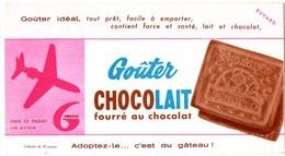Buvard Gondolo, Goûter Chocolait, Fourré Au Chocolat. - Sucreries & Gâteaux