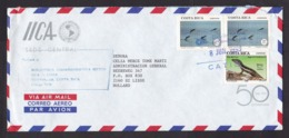 Costa Rica: Airmail Cover To Netherlands, 1993, 3 Stamps, Dolphin, Reptile, Salamander, Upaep (roughly Opened) - Costa Rica