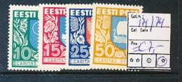 ESTONIA YVERT 171/174 LH - Estonie