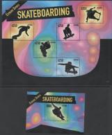 GUYANA, 2015,MNH,SPORTS, EXTREME SPORTS, SKATEBOARDING, SKATEBOARDS,SHEETLET+S/SHEET - Skateboard