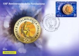 Italia Italy 2019 FDC Maximum Card 150° Anniversario Fondazione Società Italiana Di Oftalmologia Ophthalmology Society - Medicina