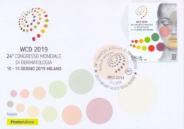 Italia Italy 2019 FDC Maximum Card 24° Congresso Mondiale Di Dermatologia A Milano 24th World Congress Of Dermatology - Medicina