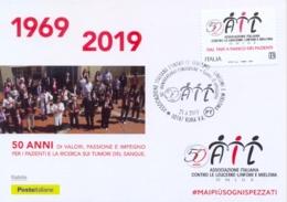 Italia Italy 2019 FDC Maximum Card 50° Anniversario Associazione Contro Le Leucemie Association Against Leukemias - Malattie