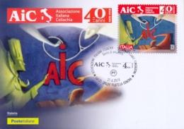 Italia Italy 2019 FDC Maximum Card 40° Anniversario Associazione Italiana Celiachia Italian Celiac Association - Malattie