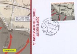 Italia Italy 2019 FDC Maximum Card 75° Anniversario Sbarco Degli Alleati Ad Anzio Landing Of The Allies Second World War - Guerre Mondiale (Seconde)