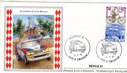 Monaco 1990  -  Automobile Club De Monaco - Rallye Monte-Carlo - Lancia - Envelope Premier Jour/First Day Cover FDC - Automobilismo