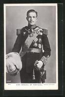 AK King Manuel Von Portugal In Uniform Mit Orden Und Epauletten - Familles Royales