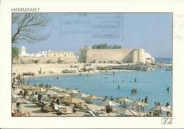 Hammamet (Tunisie) Le Fort Et Le Golfe, Il Forte E La Spiaggia - Tunisia