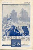 PUB 444 - LISTINO MENSILE - LA VOCE DEL PADRONE - SETTEMBRE 1931 - 36 Pag. - Advertising