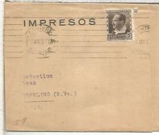BARCELONA GUERRA CIVIL FAJA PRENSA A USA 1937 SELLO BLASCO IBAÑEZ - 1931-Hoy: 2ª República - ... Juan Carlos I
