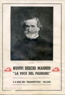 PUB 451 - NUOVI DISCHI - LA VOCE DEL PADRONE - MAGGIO 1935 - 32 Pag.#777054068 - Advertising
