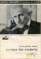 PUB 455 - NUOVI DISCHI - LA VOCE DEL PADRONE - APRILE 1937 - 24 Pag. - Advertising