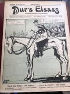 ALSACE - Revue Politique Et Satirique DUR'S ELSASS Du 18 Novembre 1911 - N°124 - Couverture Du Caricaturiste Zislin - Sonstige