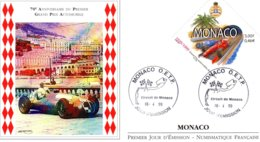Monaco 1999  -  70e Anniversaire Du Premier Grand Prix Automobile - Maserati - Envelope Premier Jour/First Day Cover FDC - Automobilismo