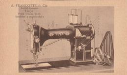 A. Francotte & Cie . Liège. Machine à Points -clairs.  Scan - Pubblicitari