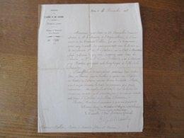 MINISTERE DE L'ALGERIE ET DES COLONIES PARIS LE 4 DECEMBRE 1858 COURRIER POUR LE PRINCE CHARGE DU MINISTERE LE CONSEILLE - Documentos Históricos