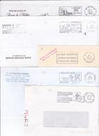 LOT De 90 Lettres Oblitérées En PORT PAYE En France Avec Flammes - Marcophilie (Lettres)