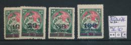 LATVIA YVERT 70/723 + 74 LH - Lettonie