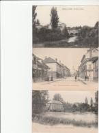 3 CPA:ARCIS SUR AUBE (10) USINE DE CHERLIEU,CONFISERIE RUE DE PARIS,BRAS DE L'AUBE - Arcis Sur Aube