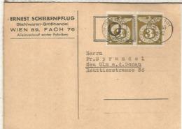 ALEMANIA AUSTRIA WIEN CC 1943  EIGENI VORSICHT SEGURIDAD VIAL ROAD SAFETY - Accidentes Y Seguridad Vial