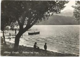 W4551 Albano Laziale (Roma) - Mattina Sul Lago - Panorama / Viaggiata 1958 - Italië