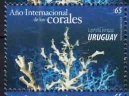 URUGUAY, 2018, MNH, MARINE LIFE, CORALS, INTERNATIONAL YEAR OF CORAL, 1v - Marine Life