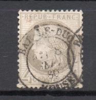 - FRANCE N° 52c Oblitéré CAD - 4 C. Gris Type Cérès 1872 - FOND LIGNÉ - Cote 80 EUR - - 1871-1875 Cérès