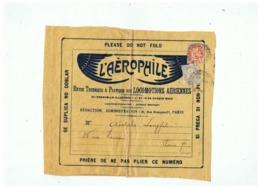L'AEROPHILIE REVUE DES LOCOMOTIONS AERIENNES PARIS - Advertisements