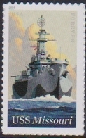 USA, 2019, MNH, SHIPS, BATTLESHIPS, USS MISSOURI, 1v - Bateaux