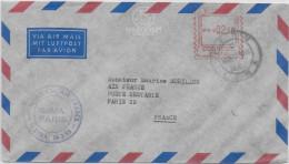 1958 - PEROU - ENVELOPPE 1° VOL LIGNE AERIENNE AIR FRANCE De LIMA à PARIS - Pérou