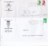 LOT De 65 Lettres Avec ENTÊTE MAIRIES En FRANCE Avec Flammes - Marcophilie (Lettres)
