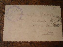 Guerre 39.45langres Regiment Artillerie Lourde Tractee Cachet Franchise Postale Militaire Guerre 39.45 - Postmark Collection (Covers)