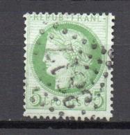 - FRANCE N° 53c Oblitéré Losange GC - 5 C. Type Cérès 1872 - TRAIT MINCE SOUS LE CADRE INFÉRIEUR - Cote 130 EUR - - 1871-1875 Ceres