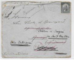 1926 - CHILE - ENVELOPPE De SANTIAGO Avec CACHET MARITIME => ANNECY Puis PLUSIEURS REEXPEDITIONS ! - Chile