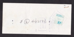 Australia - Victoria: Bank Payment Form, 1982, Revenue Stamp Duty 10c, ANZ Bank (minor Damage) - Cheques & Traverler's Cheques