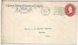 ESTADOS UNIDOS USA SAINT LOUIS 1911 ENTERO POSTAL BARYTES BARIO MINERAL - Minerales