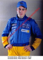 Fernando Alonso Renault F1 2002 - Original Press Photo - Format 15x21cm - Automobile - F1
