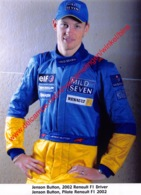 Jenson Button Renault F1 2002 - Original Press Photo - Format 15x21cm - Automobile - F1