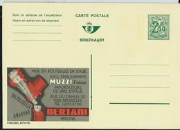 Publibel Neuve N° 2479 ( BERTANI; Vins D'Italie ) - Stamped Stationery