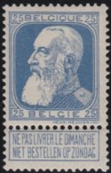 Belgie    .    OBP   .     76   .     **  .    Postfris ZONDER  Charnier    .  / .  Neuf SANS  Charniere - 1905 Grove Baard