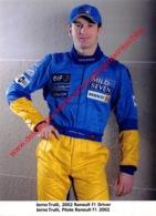 Jarno Trulli Renault F1 2002 - Original Press Photo - Format 15x21cm - Automobile - F1